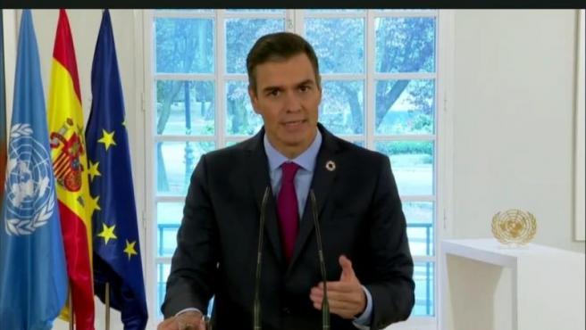 Pedro Sánchez, en su discurso para la Asamblea General de la ONU.