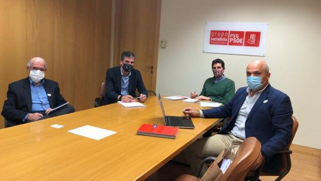 El diputado del PSdeG Pablo Arangüena se reúne con el Observatorio Eólico de Galicia y la Fundación Juana de Vega.