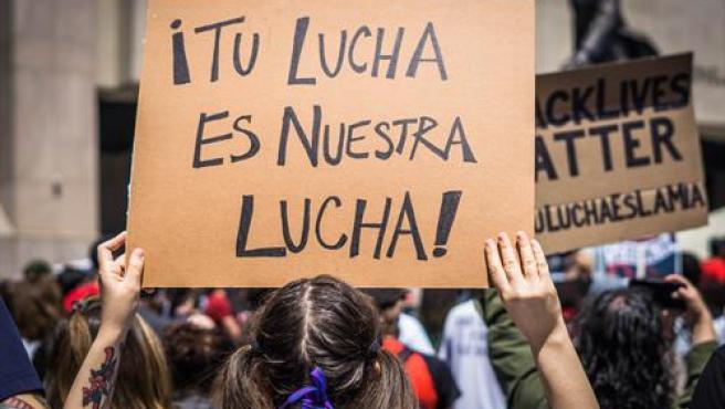 Una manifestación de la comunidad hispana en EE UU.
