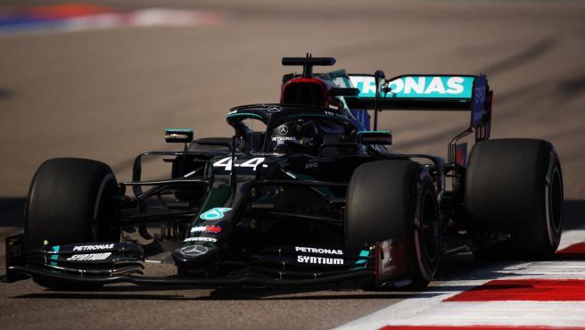 Lewis Hamilton, en el circuito de Rusia