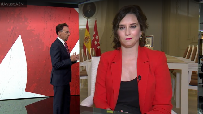 Ayuso, en Antena3.