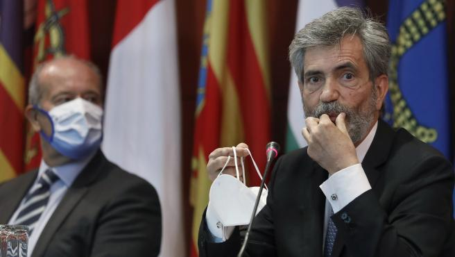 El presidente del Tribunal Supremo y del Consejo General del Poder Judicial (CGPJ), Carlos Lesmes.