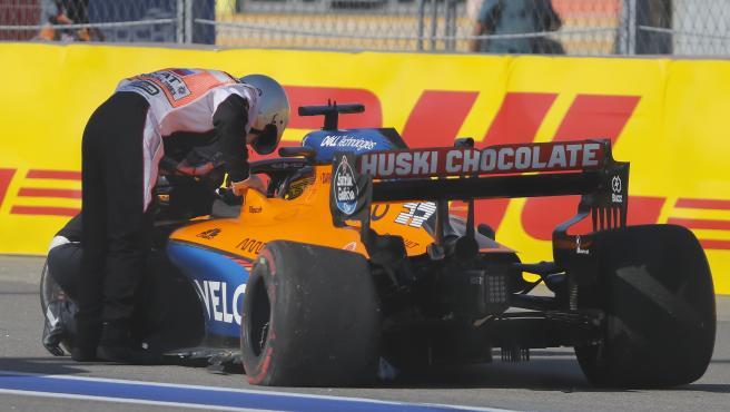 El accidente de Carlos Sainz en el GP de Rusia