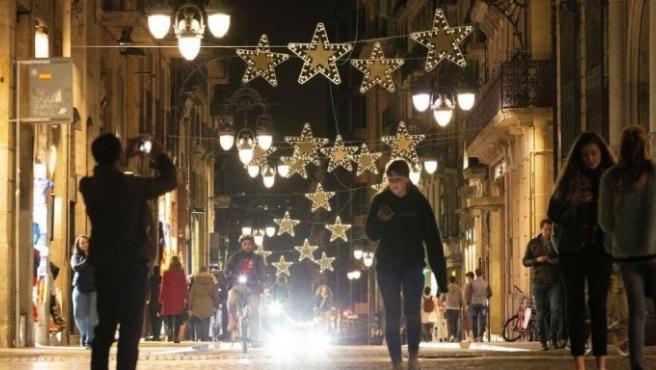 Imagen de archivo de las Navidades en Barcelona.