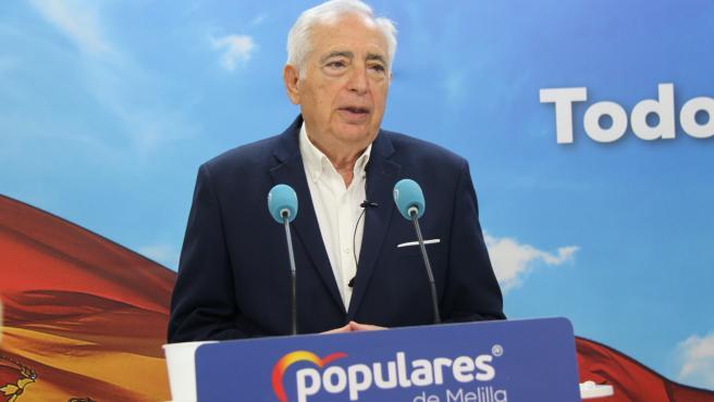 El presidente del PP de Melilla, Juan José Imbroda.