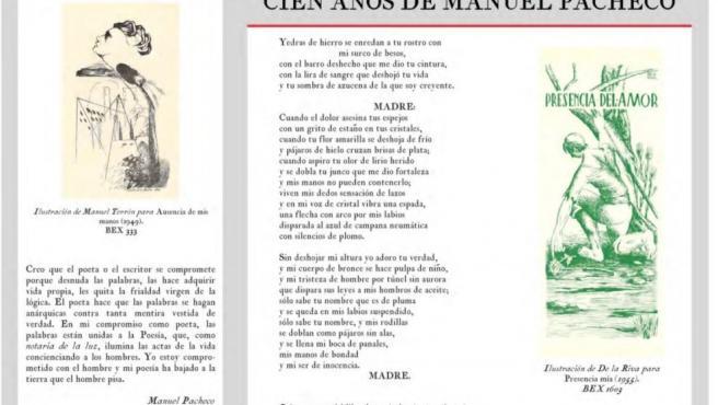 El poeta Manuel Pacheco protagoniza una exposición de la Diputación de Cáceres