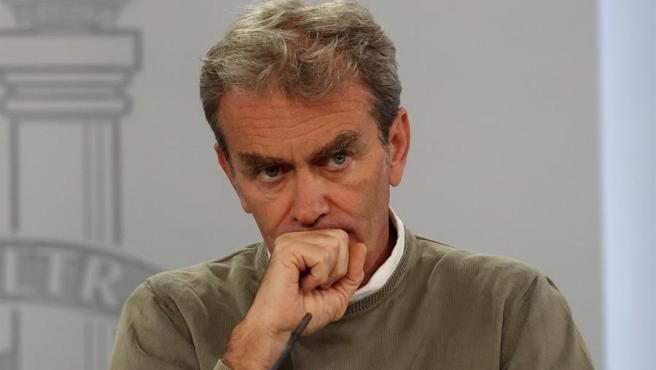 El director del CCAES, Fernando Simón, en rueda de prensa de este 28 de septiembre.