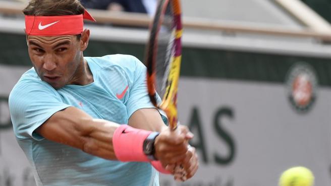Rafa Nadal, en su debut en Roland Garros.