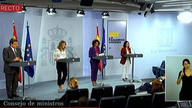 Rueda de prensa posterior al Consejo de Ministros del 29 de septiembre de 2020.