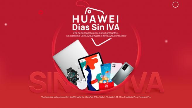 Los Días sin IVA de Huawei se celebran hasta el próximo 30 de septiembre.