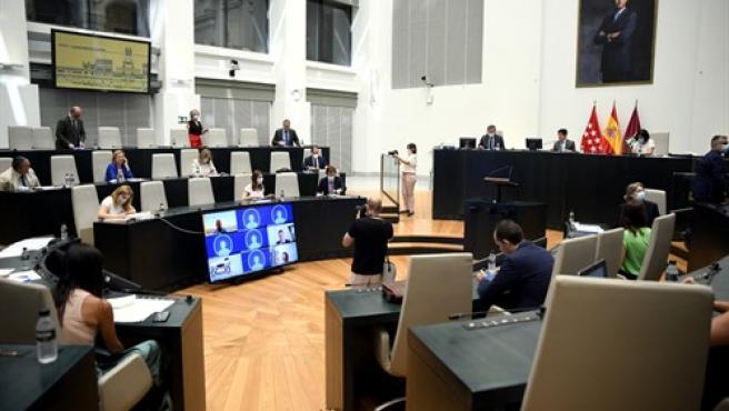 Sesión plenaria en el Palacio de Cibeles, sede del Ayuntamiento de Madrid.