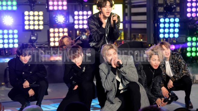 BTS en Año Nuevo en Time's Square