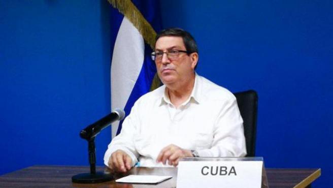 El ministro de Relaciones Exteriores de Cuba, Bruno Eduardo Rodríguez Parrilla.