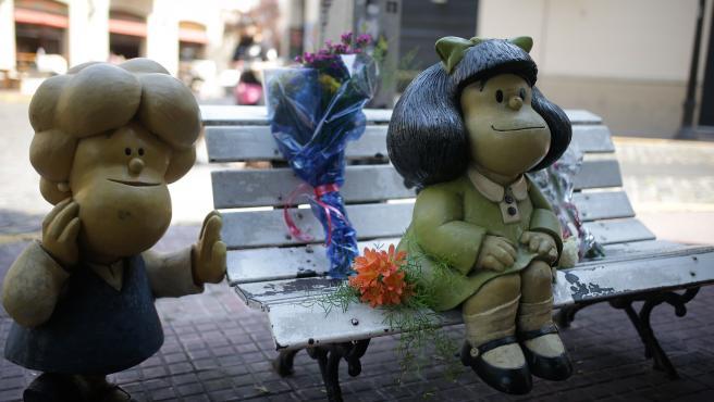 Estatua de Mafalta en Buenos Aires.