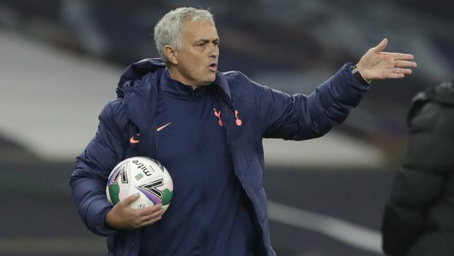 El entrenador del Tottenham, durante el partido ante el Chelsea.