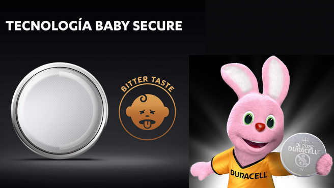 La Tecnología Baby Secure añade un sabor amargo a las pilas de botón.