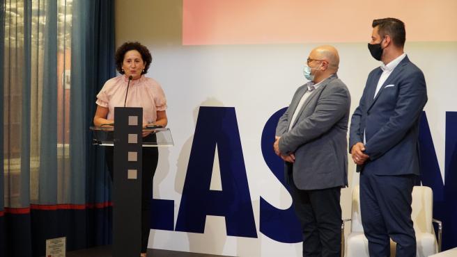 Maeztu en el acto de entrega del Premio Internacional Carlos Román