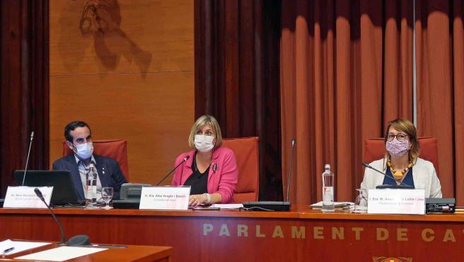 La consellera de Salud de la Generalitat, Alba Vergés, en comisión parlamentaria.
