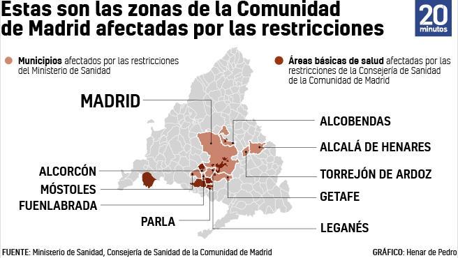 Los 10 municipios confinados.
