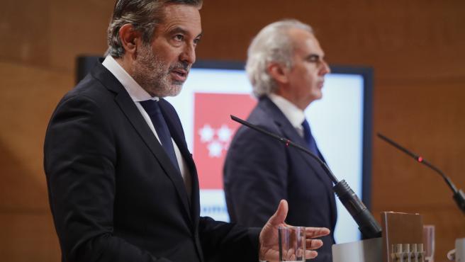 Los consejeros de justicia, Enrique López, y de salud, Enrique Ruiz Escudero.