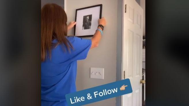 Esta usuaria de TikTok cuelga vídeos con trucos domésticos.