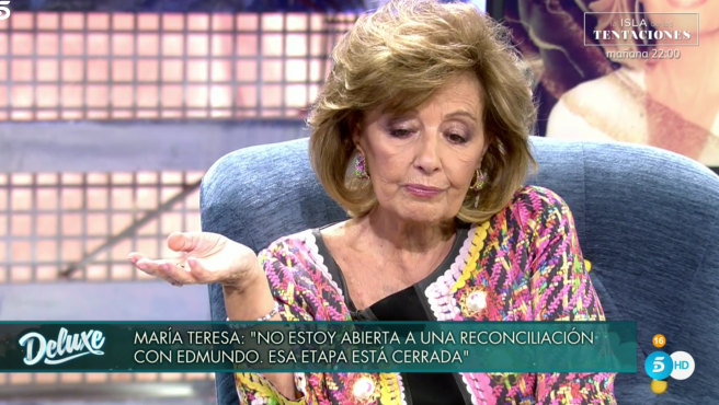 Mª Teresa Campos, en 'Sábado deluxe'.