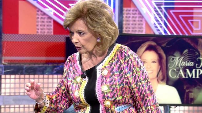 María Teresa Campos este sábado en su entrevista con Jorge Javier Vázquez.
