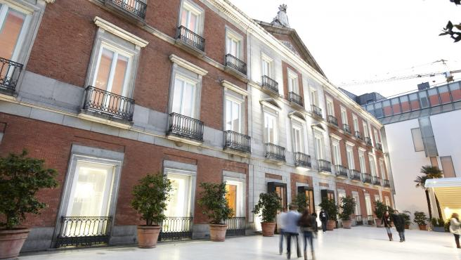Fachada del Museo Nacional Thyssen Bornemisza en Madrid.