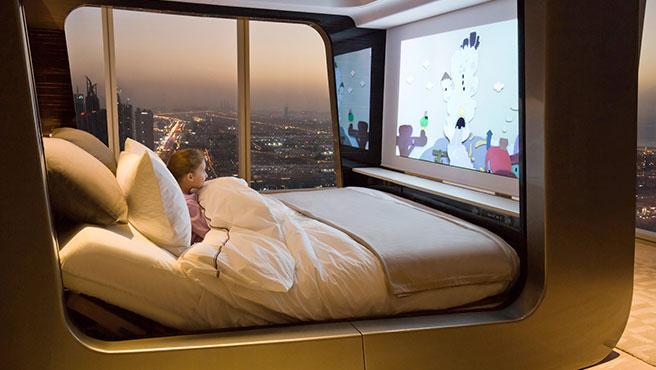 La cama del futuro se integra con el sistema de automatización del hogar