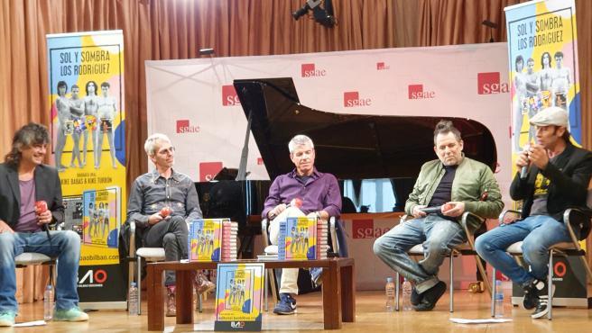 Los Rodríguez presentan su biografía 'Sol y sombra' en la sede de la SGAE, en Madrid