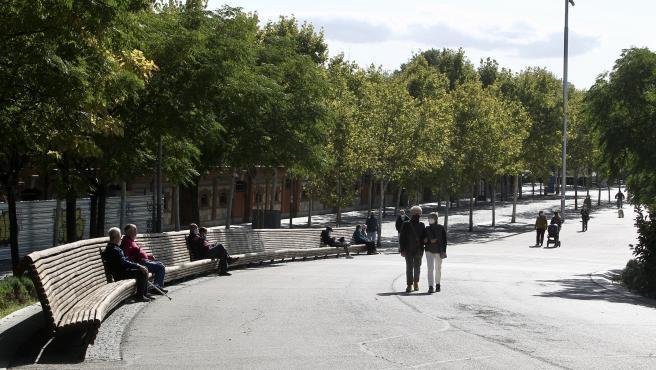 Madrid Río, el primer lunes de confinamiento perimetral en la capital.