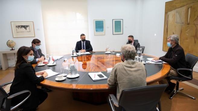 El presidente del Gobierno, Pedro Sánchez, preside la reunión del Comité de Seguimiento del coronavirus.
