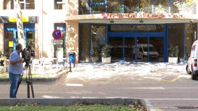 Entrada del Colegio Mayor Galileo Galilei de València