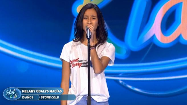 Melany, en 'Idol kids'