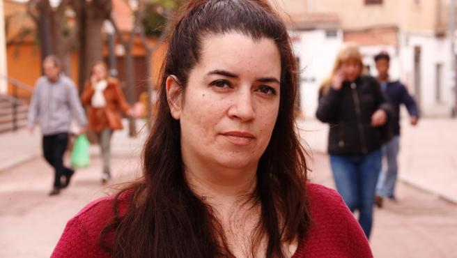 La CDR Tamara Carrasco, durante su confinamiento en Viladecans (Barcelona), el 4 de abril de 2019.