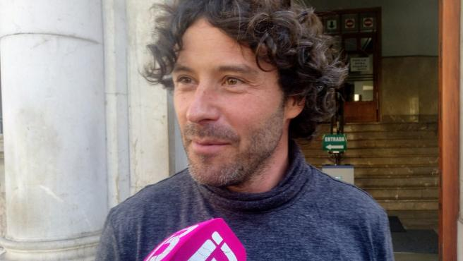 El exjefe de campaña de MÉS per Mallorca, Jaume Garau, frente al Juzgado.