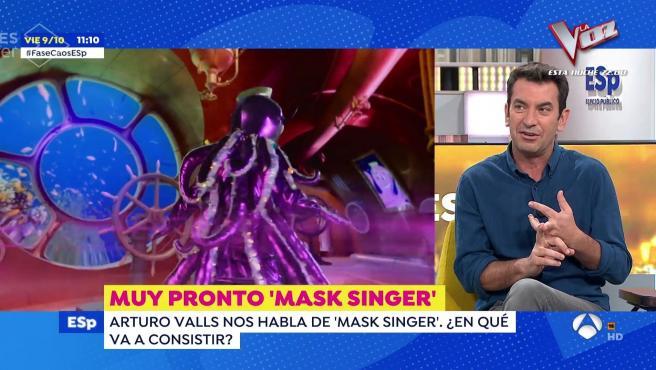 Arturo Valls presenta en 'Espejo público' su nuevo programa.