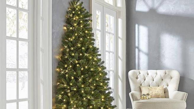 Medio árbol de Navidad.