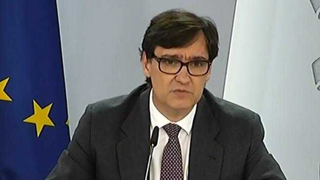 Ministro de Sanidad, Salvador Illa, en rueda de prensa del 9 de octubre.