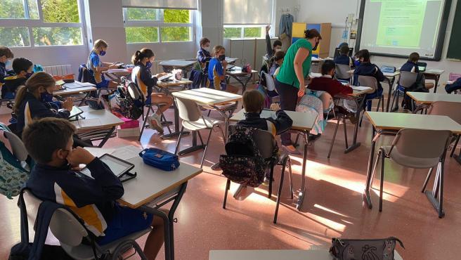 Alumnos del Colegio La Salle de Córdoba durante una clase.