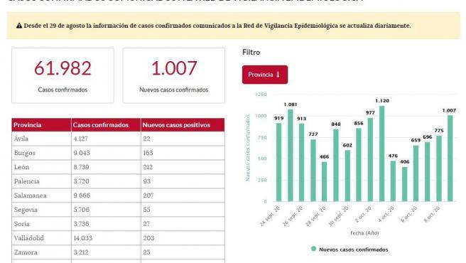 Imagen del portal de datos abiertos de la Junta de Castilla y León.