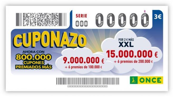Imagen promocional del Cuponazo de la ONCE.