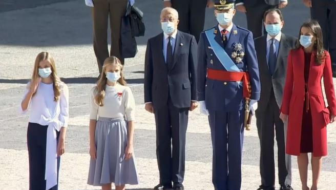 La familia real en los actos del 12.O