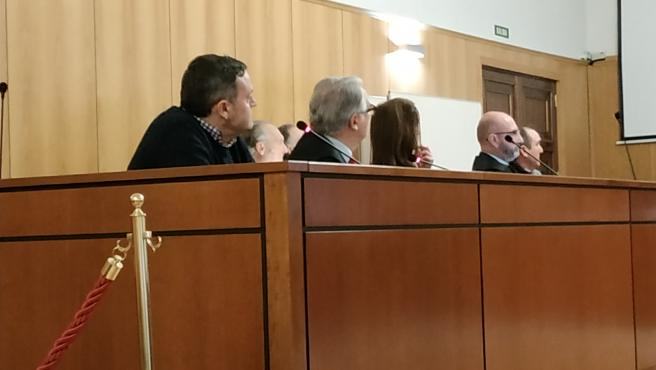 El exalcalde y otros tres concejales, durante el juicio en la Audiencia de Valladolid.