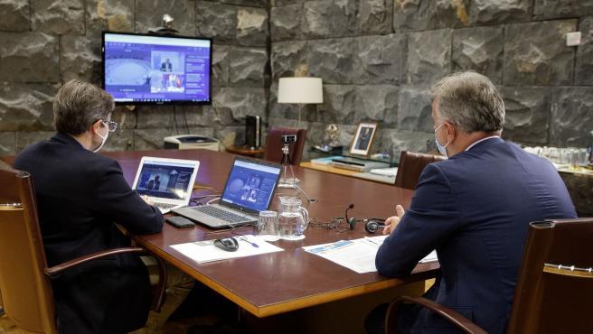 El presidente de Canarias, Ángel Víctor Torres, participa en el V Foro de las RUP