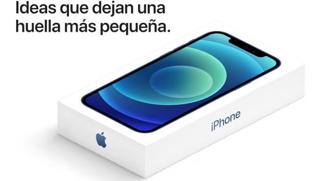Al eliminar los cascos y el cargador, la caja de los nuevos iPhone será más pequeña.