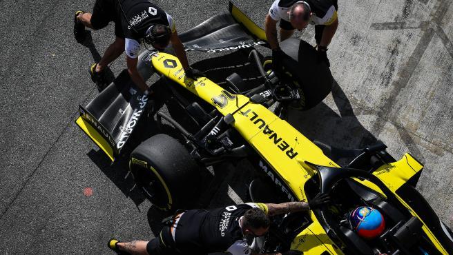 Fernando Alonso (ESP) Renault F1 Team RS20. Renault F1 Team Film Day, Tuesday 13th October 2020. Barcelona, Spain.