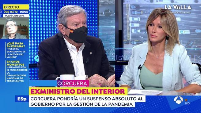 José Luis Corcuera, exministro del interior, en el programa de 'Espejo público'.