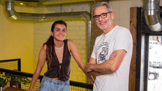 Mikel López Iturriaga con Amaia Romero, en 'Banana Split'.