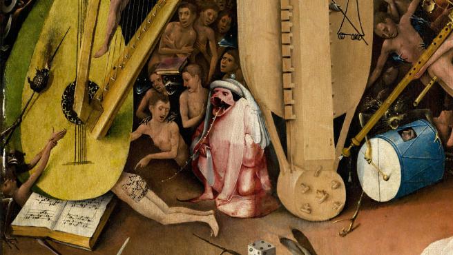 Parte del tríptico de 'El jardín de las delicias' de El Bosco.